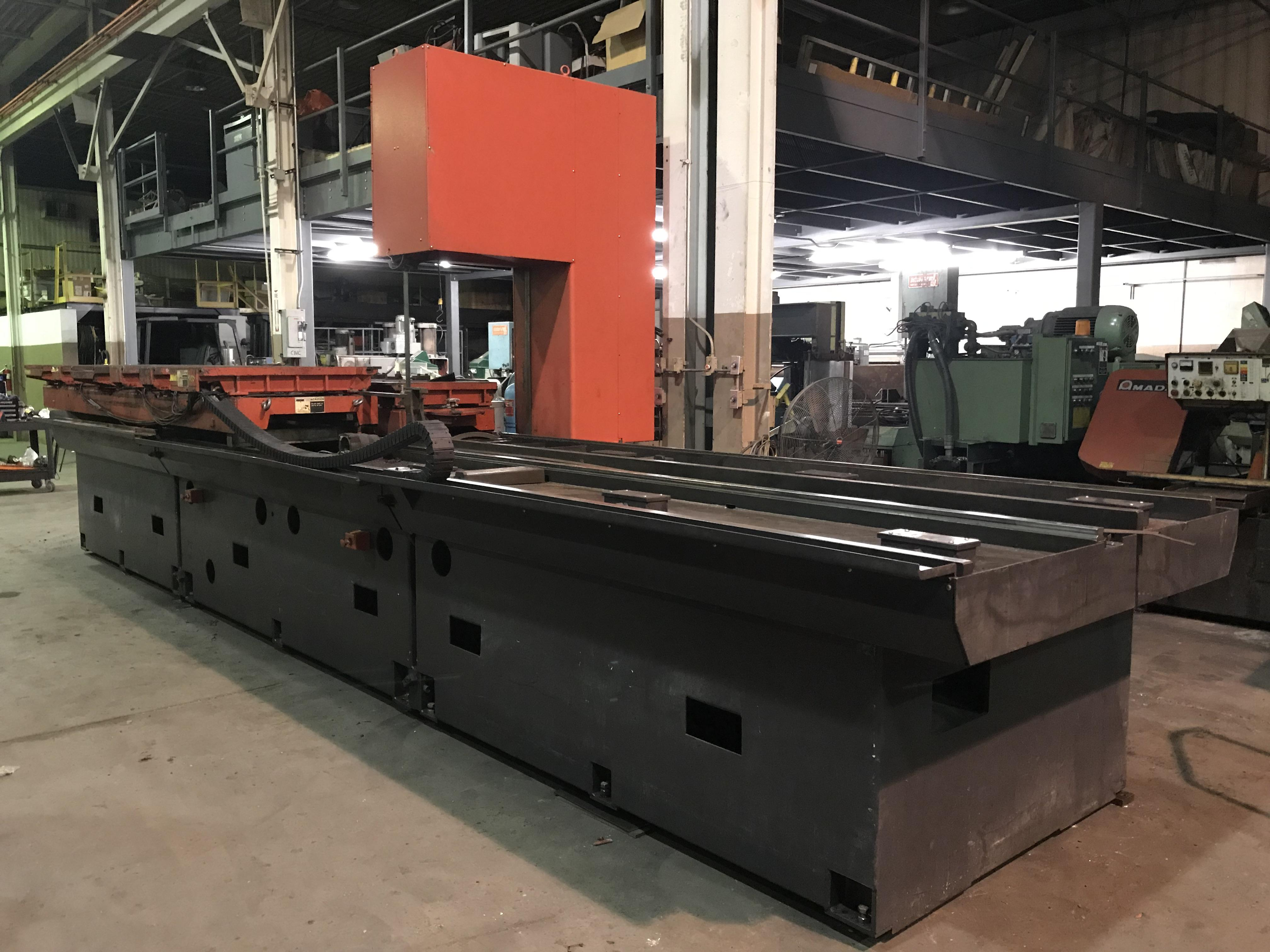 "Used Amada VM 3800 Plate / Block Type Vertical Bandsaw, 150"" x 31.5"" x 12"" 1993, Stock No. 10595"