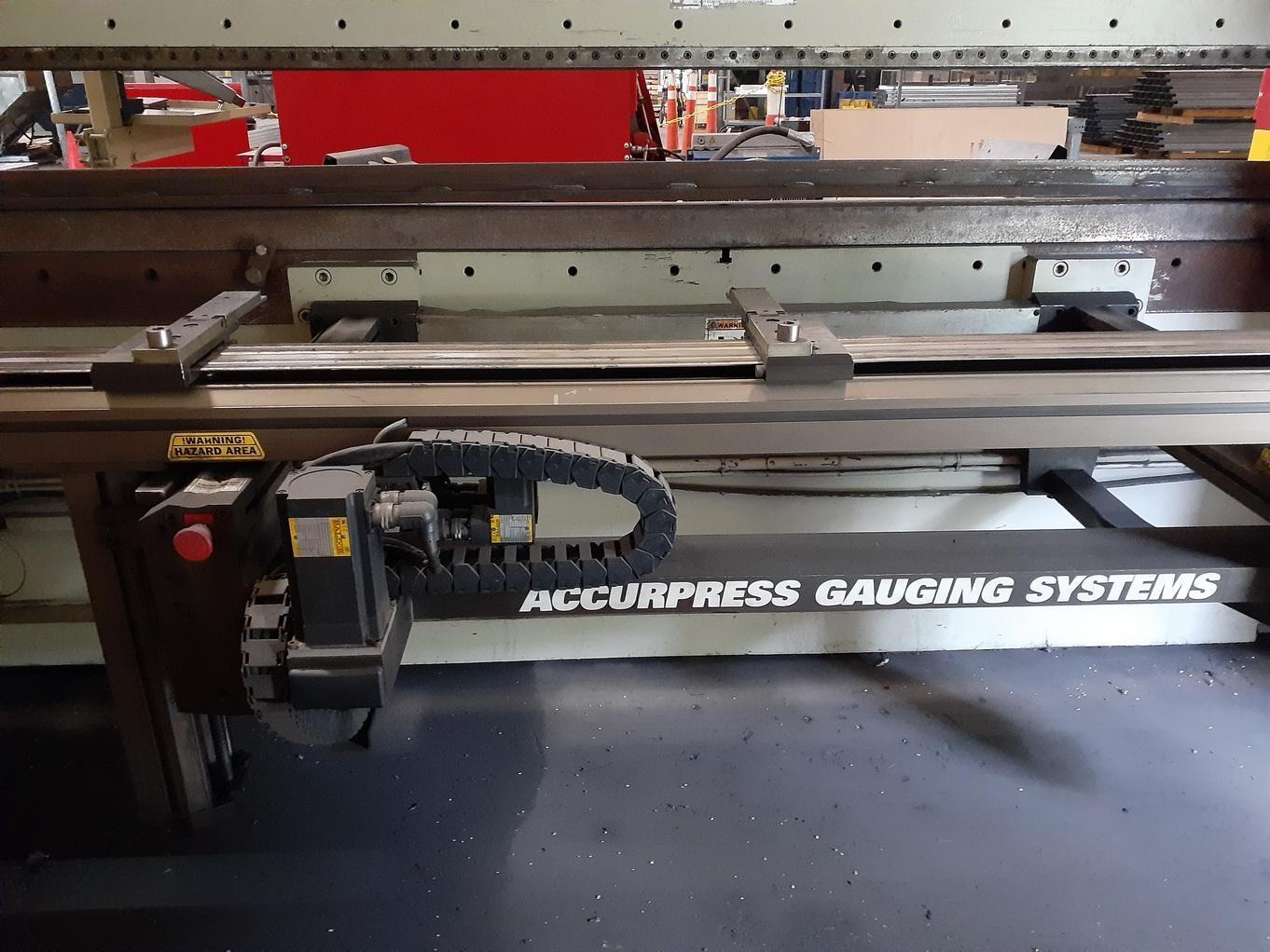 """250 Ton x 144"""" ACCURPRESS 725012 Hydraulic Brake Press, New 4 axis Accurpress ETS 3000 CNC Control to be installed Advantage Package Option; ADVANTAGE PACKAGE"""