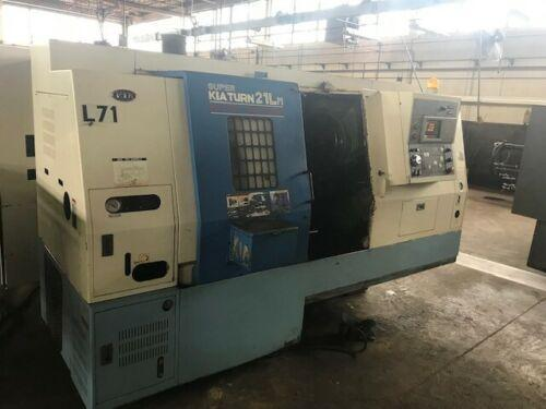 KIA SUPER TURN 21LM CNC LATHE WITH LIVE TOOLING. STOCK # 2001920
