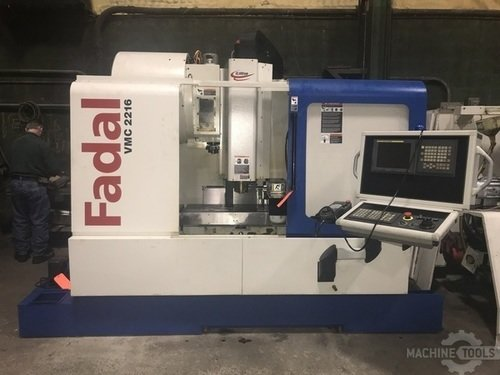 FADAL VMC 2216HT CNC VERTICAL MACHINING CENTER w/Fanuc 18iMB5, 10K Spindle, 24 Side Mount ATC, 40 Taper, 4th Axis Rotary VH65, Rigid Tap, 2006