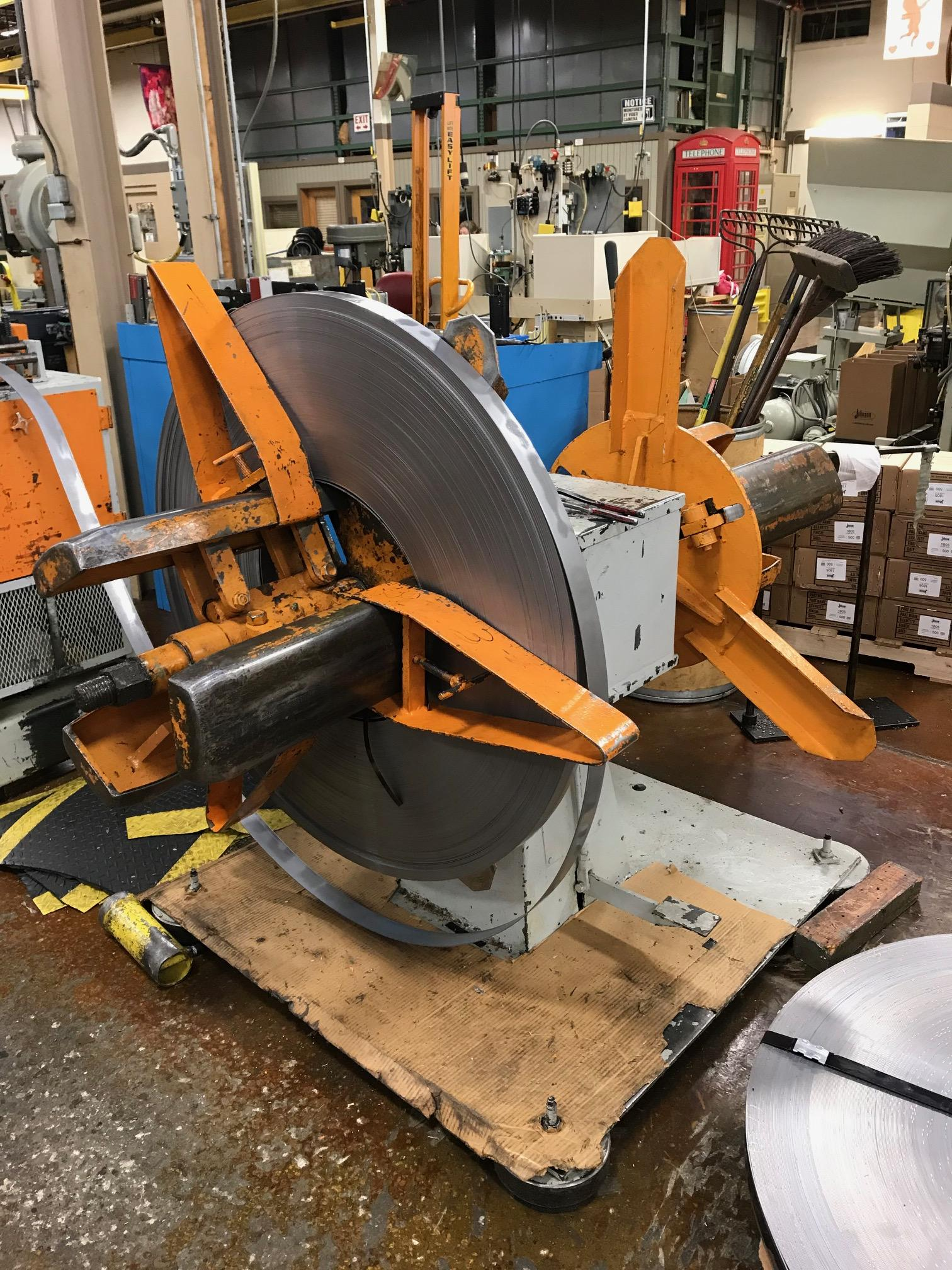 American Steel Line Pull Off Double End Coil Reel Uncoiler 2,500 Lbs.