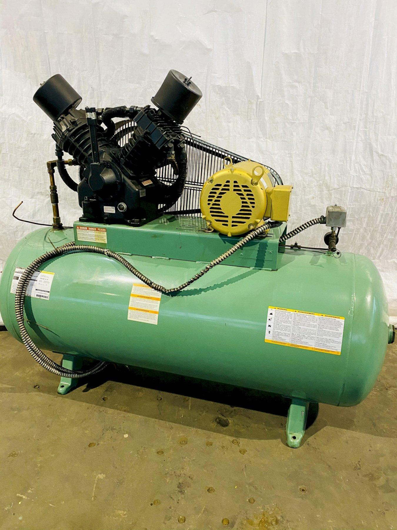10 HP DAYTON 5Z362 HORIZONTAL AIR COMPRESSOR. STOCK # 1162220