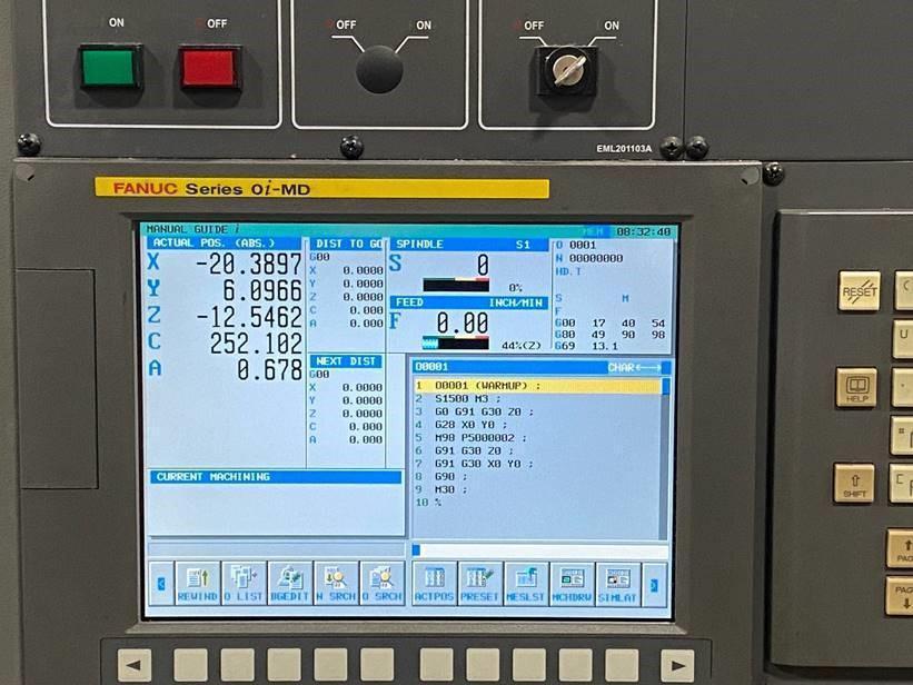 SAMSUNG Model MCV50 5-Axis CNC Vertical Machining Center, S/N DT50B0034, New 2010.