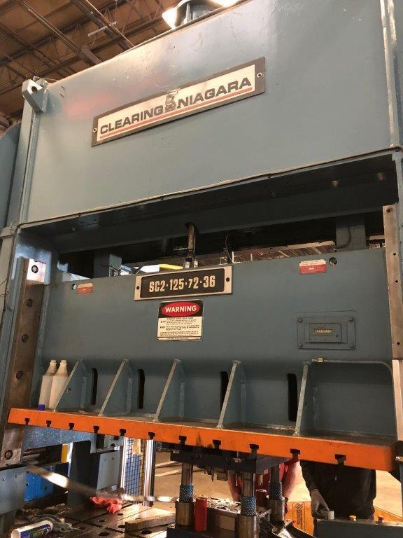 125 TON CLEARING-NIAGARA SSDC MODEL SC2-125-72-36 STAMPING PRESS LINE