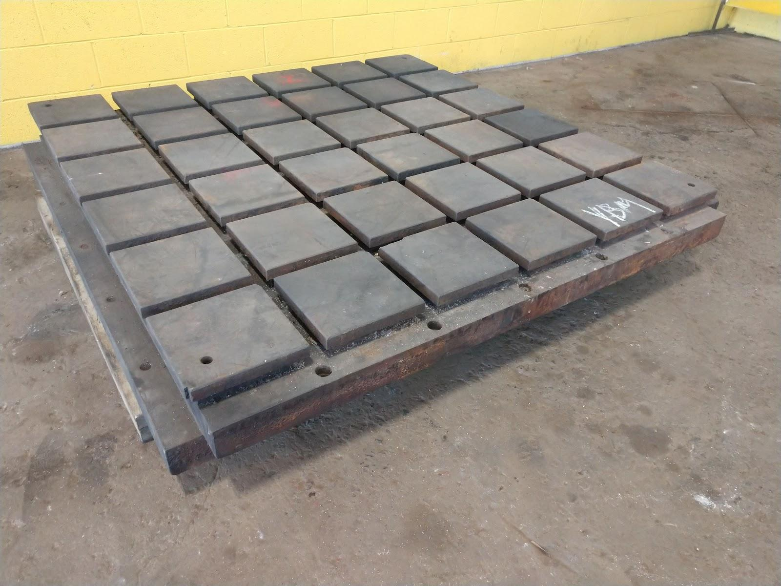 "72"" X 72"" X 9"" T-SLOTTED LAYOUT FLOOR PLATE: STOCK 11837"