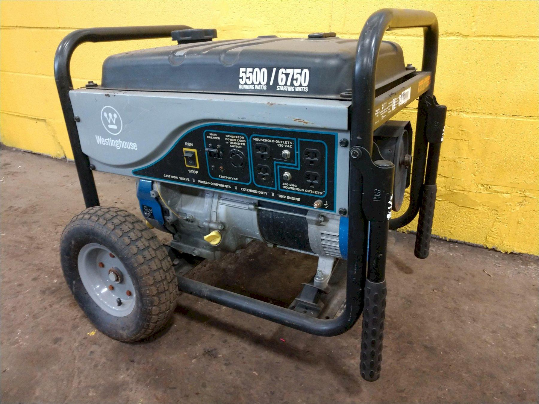 5500 WATT WESTINGHOUSE PORTABLE GENERATOR: STOCK 12995