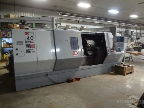 "Haas SL40LB, 18"" Chk, 7"" Bore, 89"" Ctrs, 40"" Sw, 55 HP, 10 ATC, Holders, VOP-A, Low Hrs, 2007"