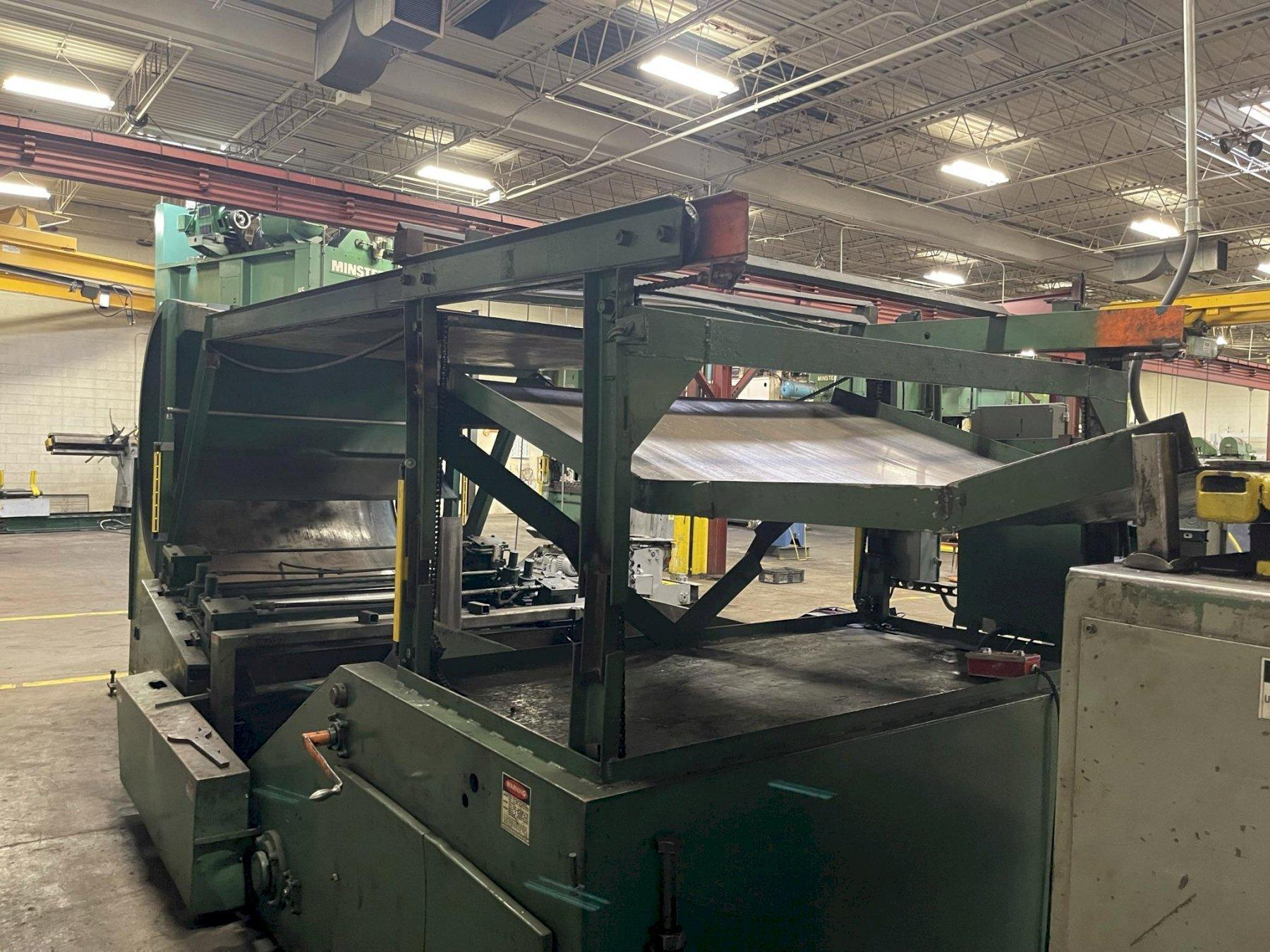 """20,000 lbs x 72"""" Feed Lease Combination Cradle Straightener"""