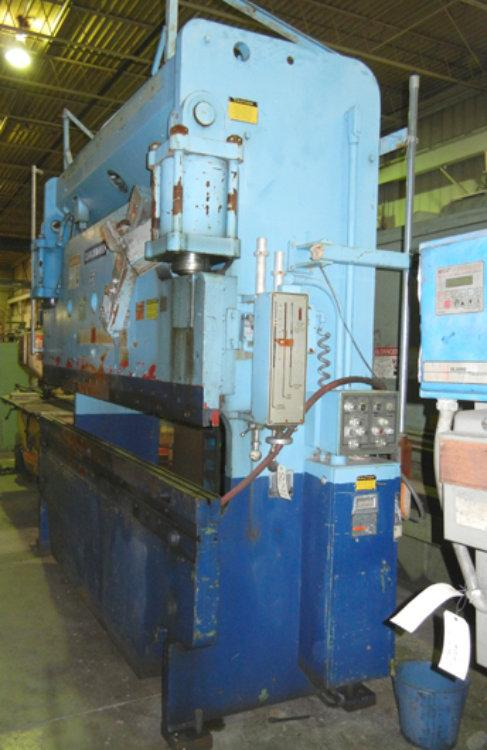 USED CINCINNATI HYDRAULIC PRESS BRAKE, Model 135CB-8, 135 ton x 10', Stock No. 8291