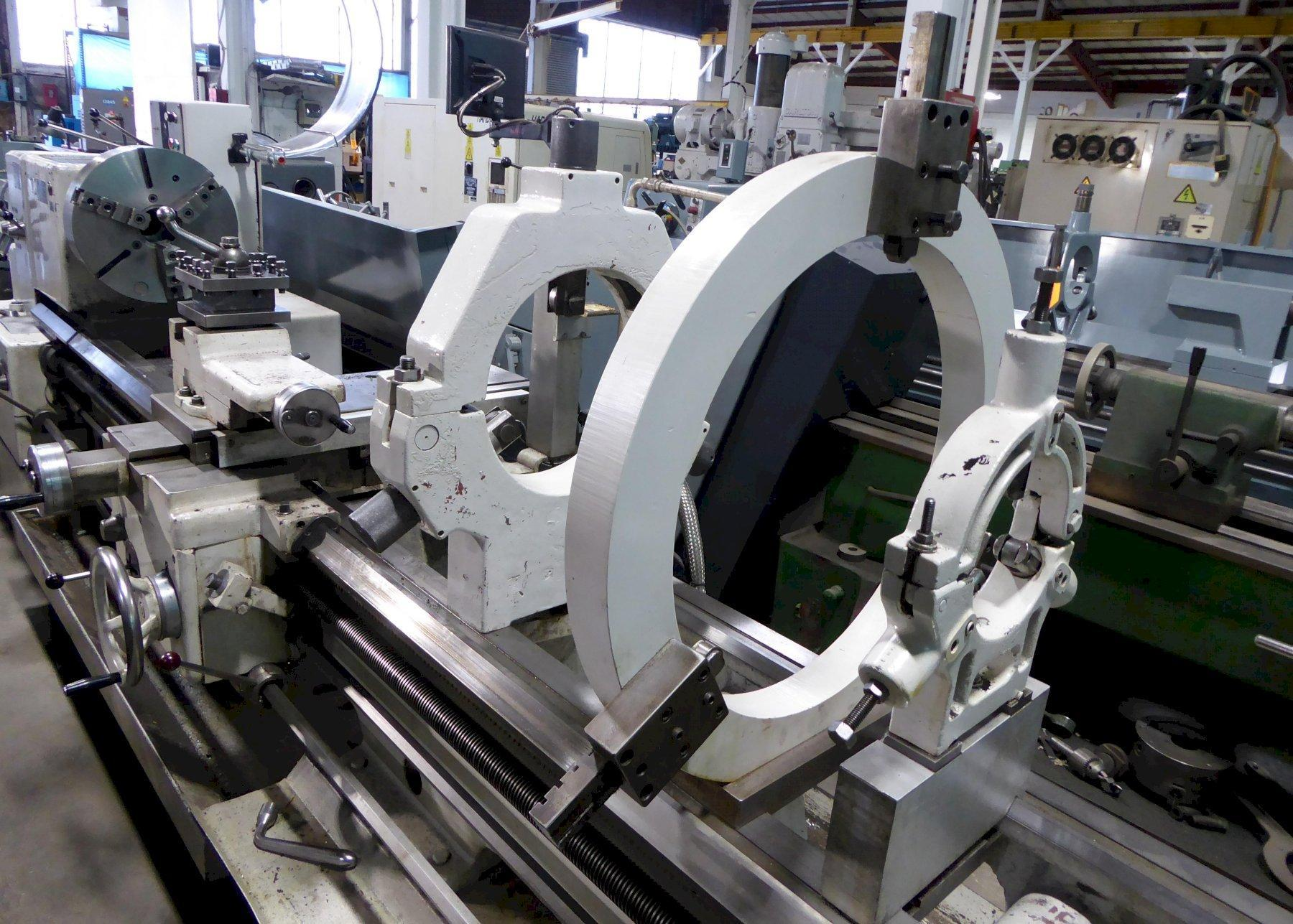 """28""""/37"""" x 156"""" TOS Gap Bed Lathe, 10-1000 RPM, 3"""" Hole, Inch/mm, DRO, Clean, Low Price"""