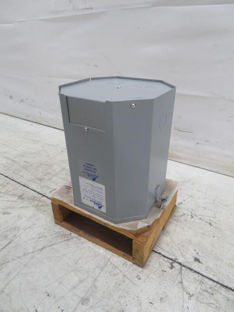 Acme Used Single Phase 15KVA Transformer, 240/480V to 120/240V, Outdoor Rated