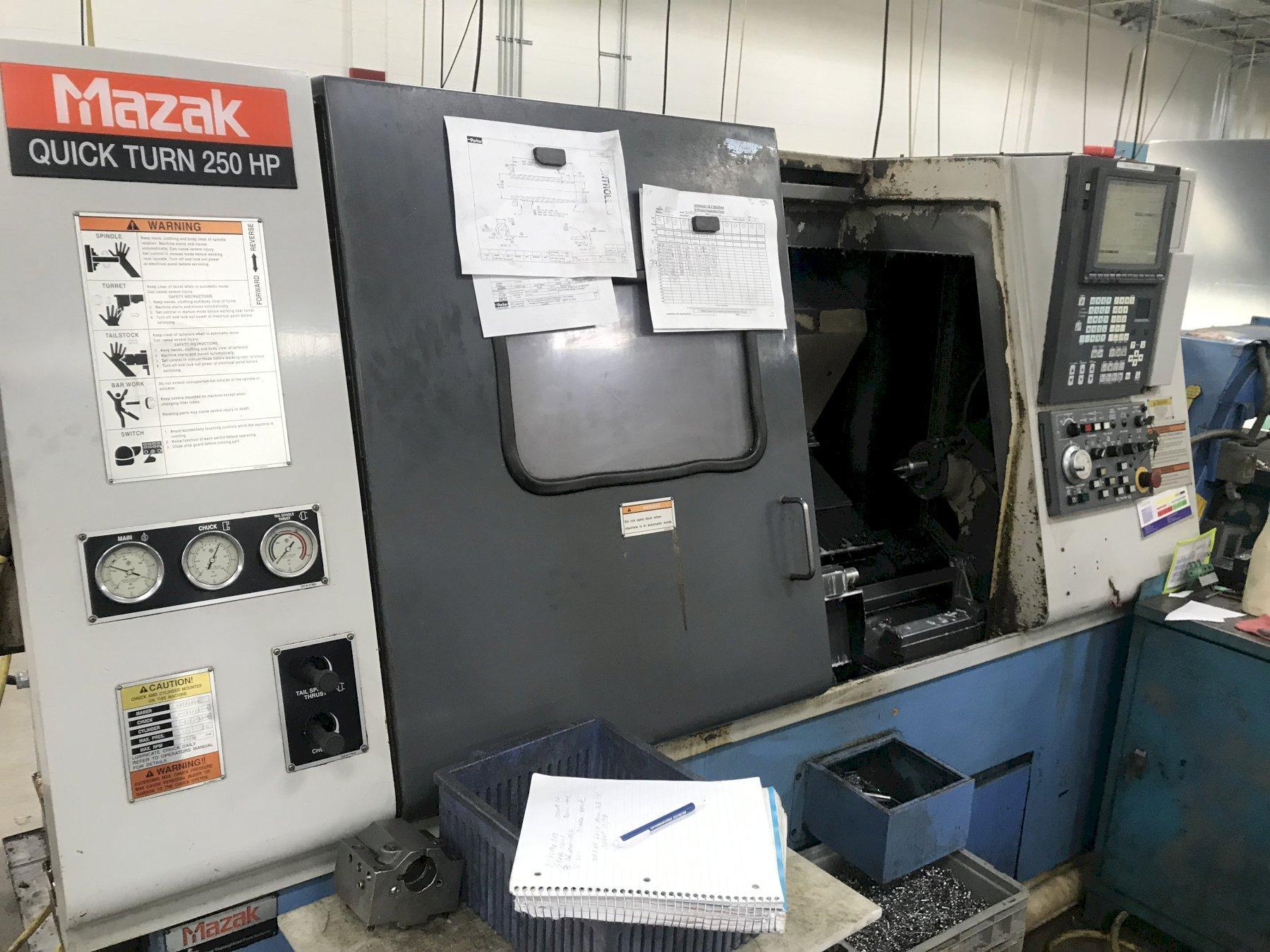 Mazak QT250HP CNC Lathe, Fusion 640T, 10