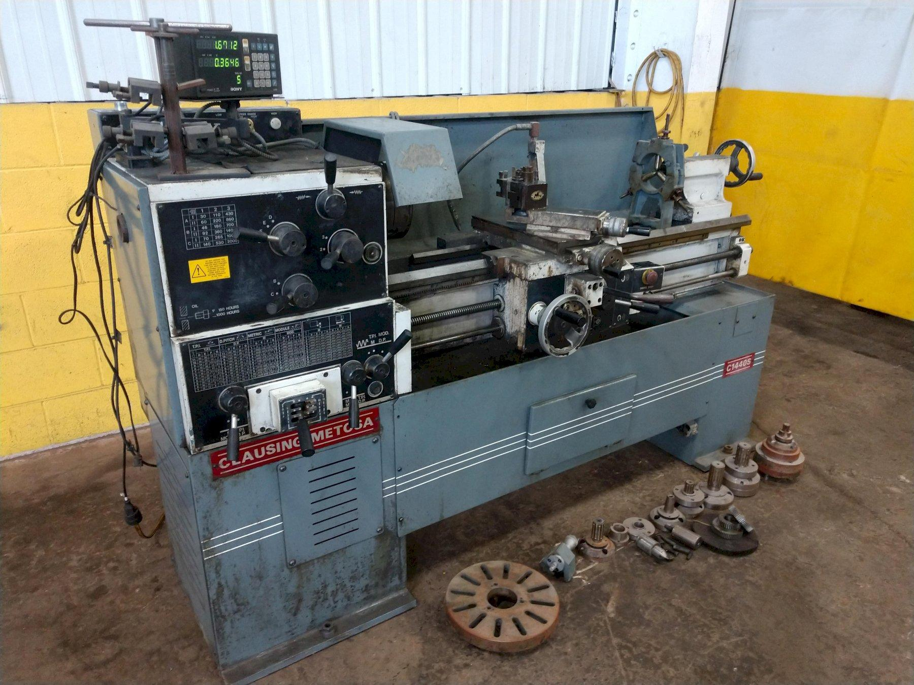 "14"" X 40"" CLAUSING METOSA MODEL #C1440S ENGINE LATHE: STOCK #14527"