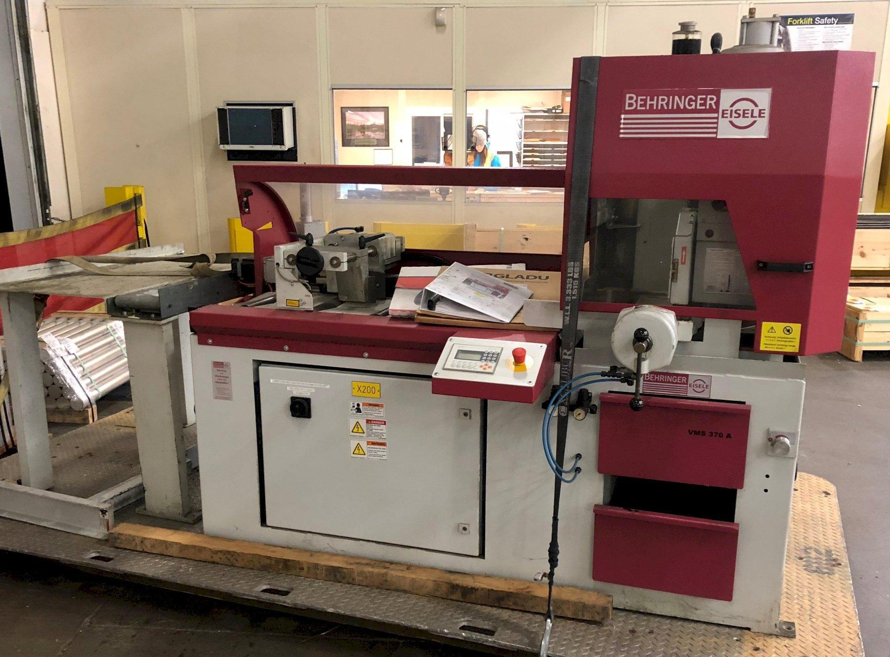 "7.8"" X 3.9"" BEHRINGER MODEL #VMS-370A CNC AUTOMATIC MITER CIRCULAR COLD SAW, NEW 2015: STOCK 12139"