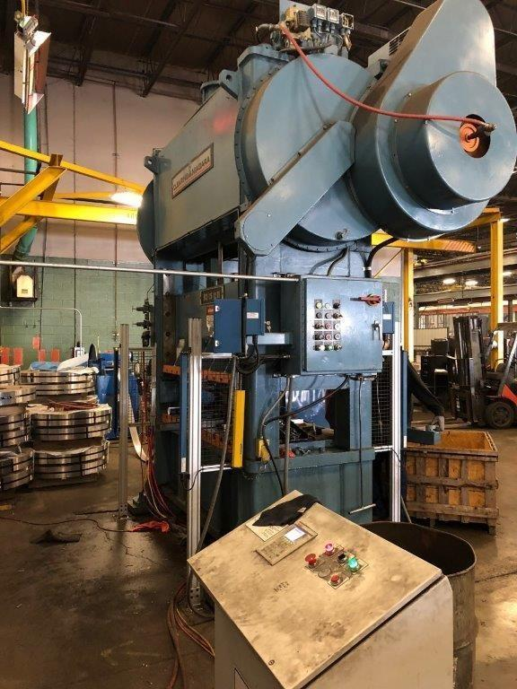 125 TON CLEARING-NIAGARA SC2-125-72-36 STRAIGHT SIDE PRESS. STOCK # 0416821