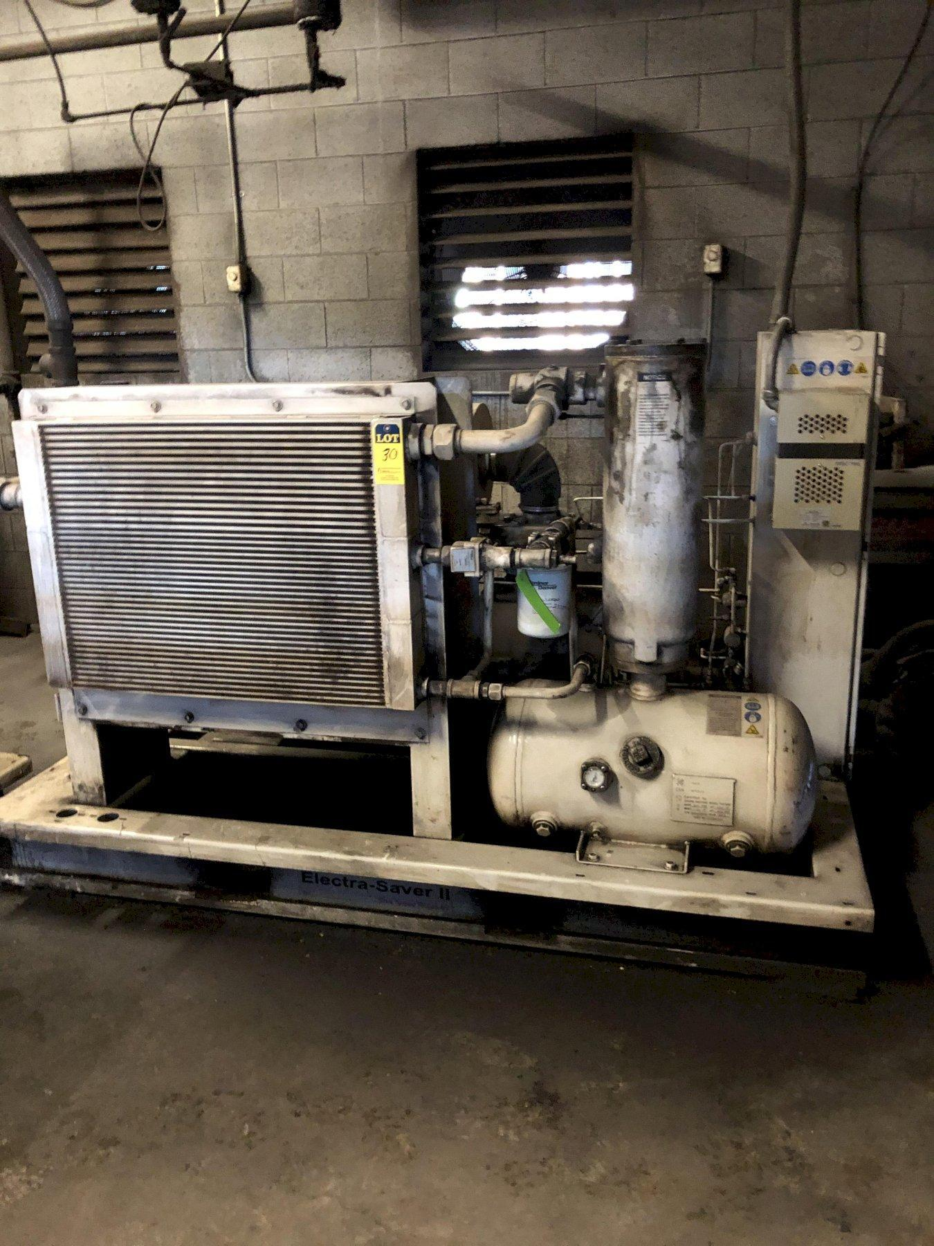 2010 Gardner Denver model ebm99k06 screw type air compressor s/n s323724, 45,885 hours, 75 hp