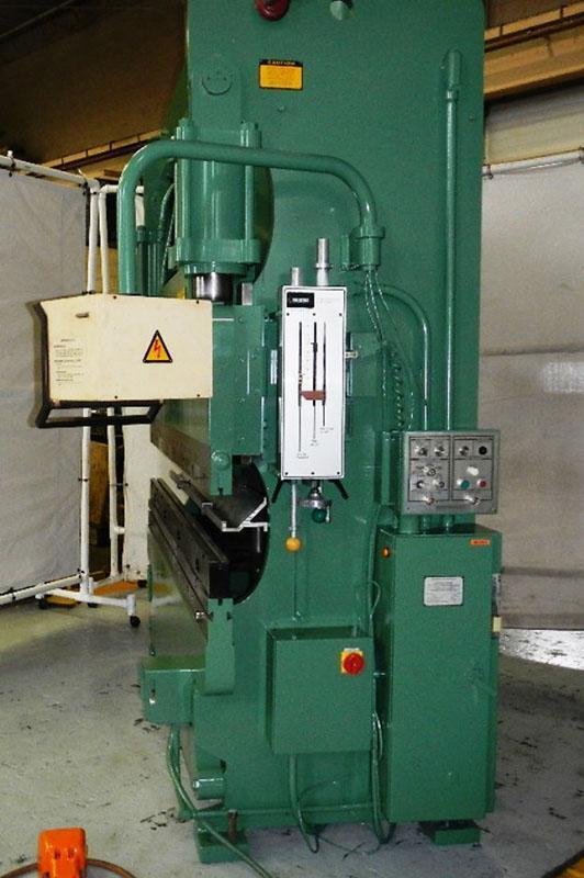 90 Ton x 8 ft, Cincinnati Hydraulic Press Brake Model 90CBx6 w/ Hurco 2 Axis CNC Back Gauge