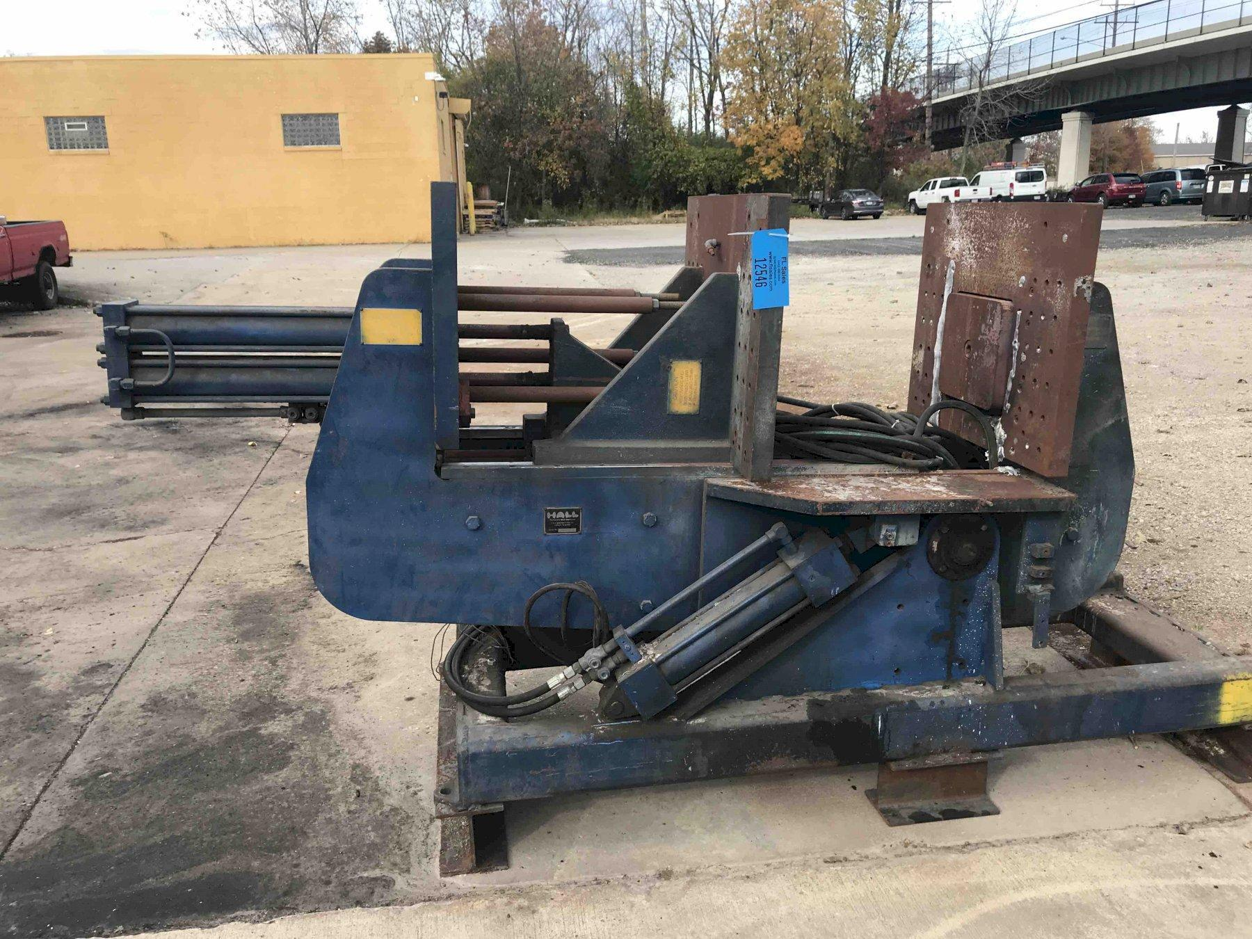 Hall model hm2 permanent molding machine s/n 209897, twin cylinder type, 24