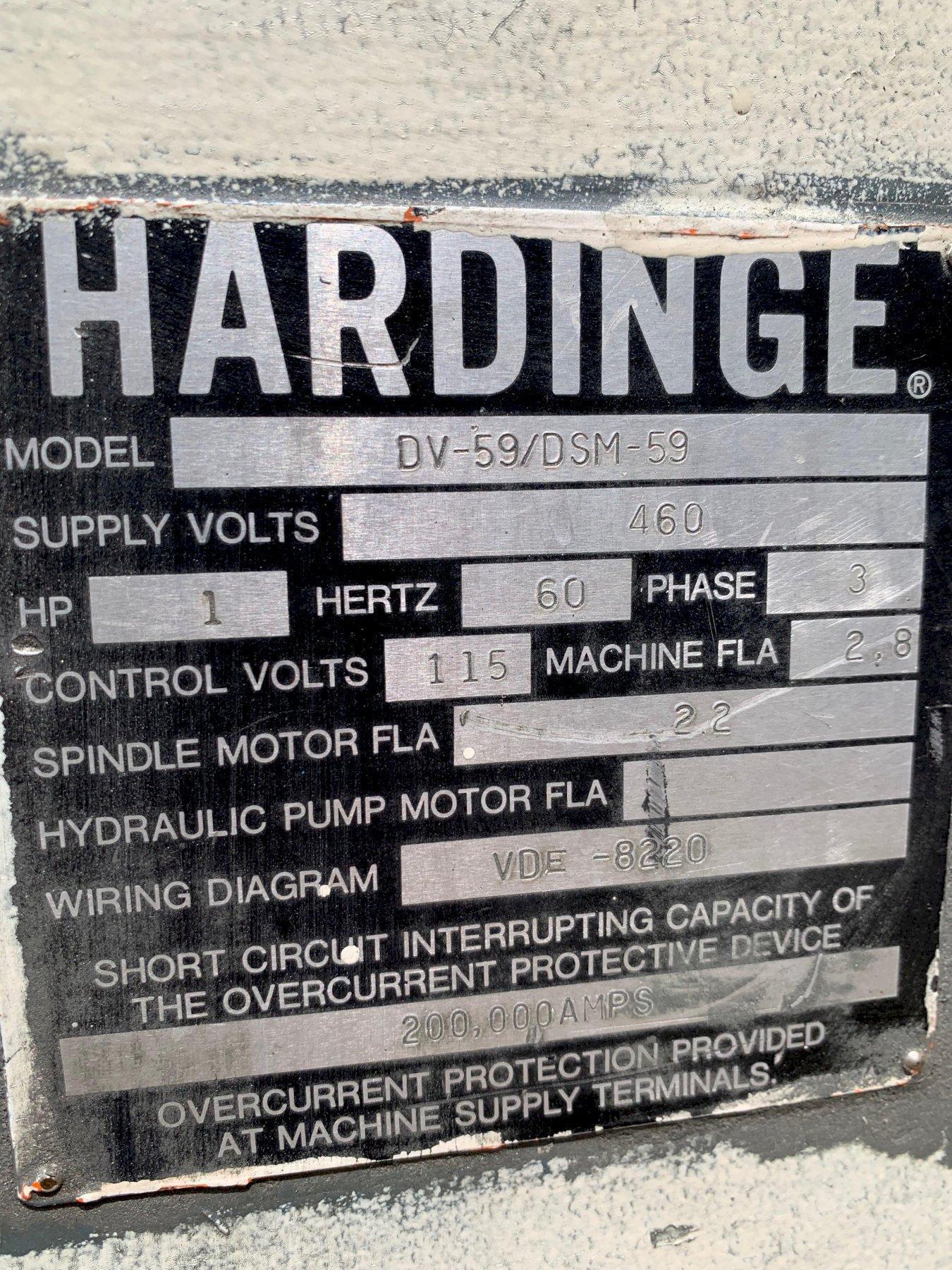 Hardinge Super-Precision Lathe Model DV59-DSM59