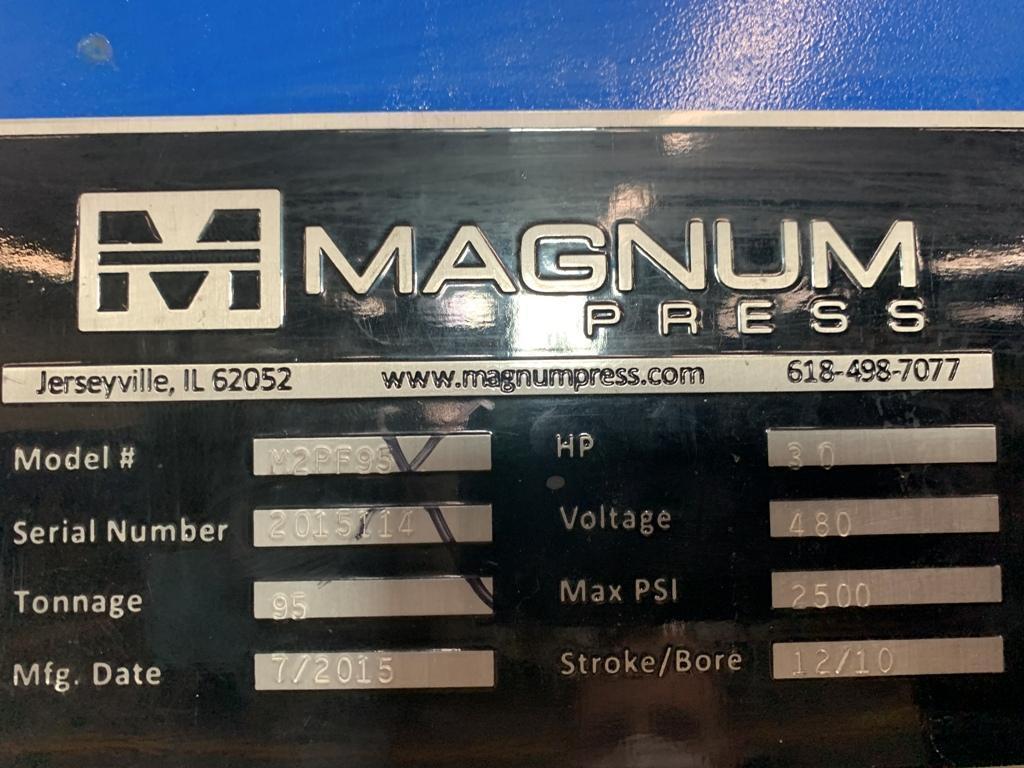 95 TON MAGNUM MODEL M2PF95 GAP FRAME PRESS