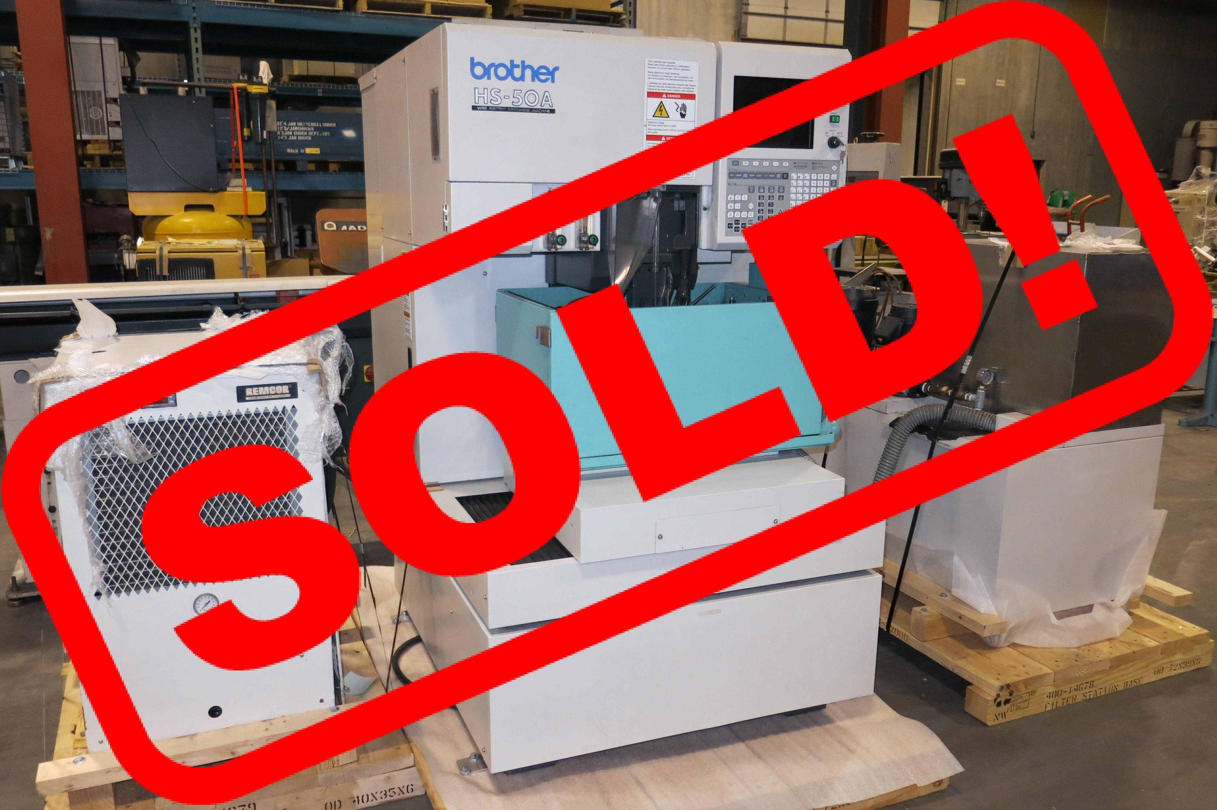 Brother Model HS-50A CNC Wire EDM Machine, New 1999 (Installed 2000 - FROM MED DEVICE TOOLROOM)