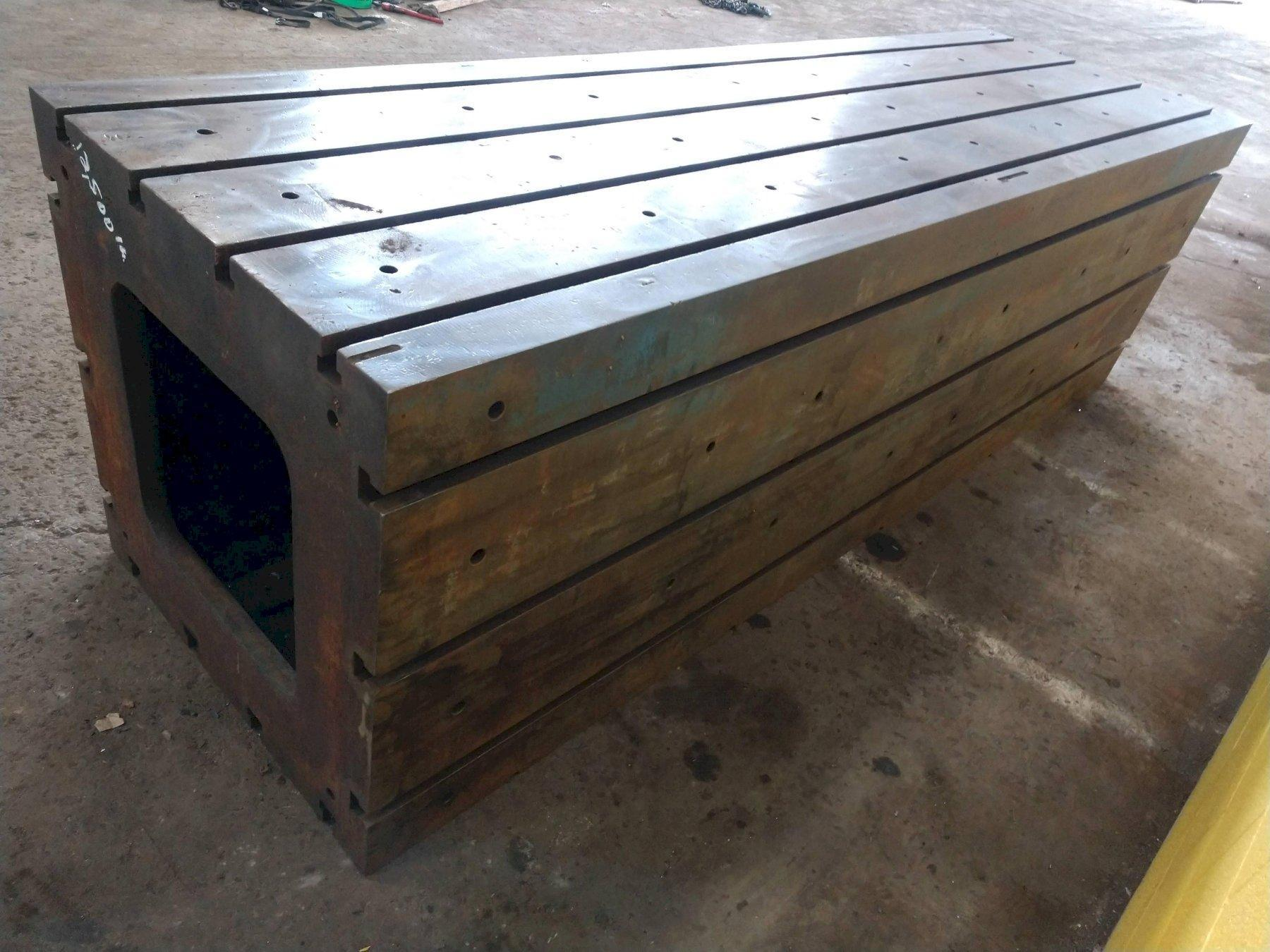 """120"""" X 36"""" X 36"""" HIGH T-SLOTTED HEAVY DUTY TABLE / RISER: STOCK #12307"""