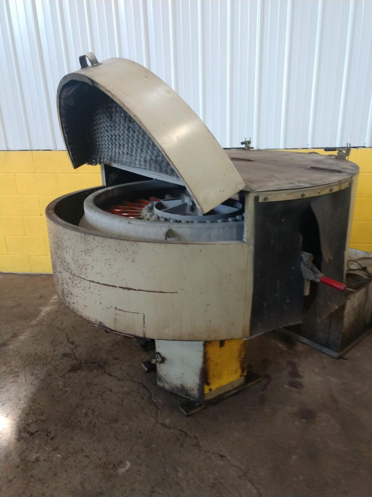 9 CU FT ALMCO MODEL OR-10VHE ROTARY VIBRATORY FINISHER:  STOCK #12913