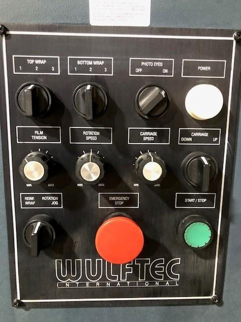 WULFTEC  MODEL WLP-150 SEMI AUTO PALLET STRETCH WRAPPER STOCK # 2782
