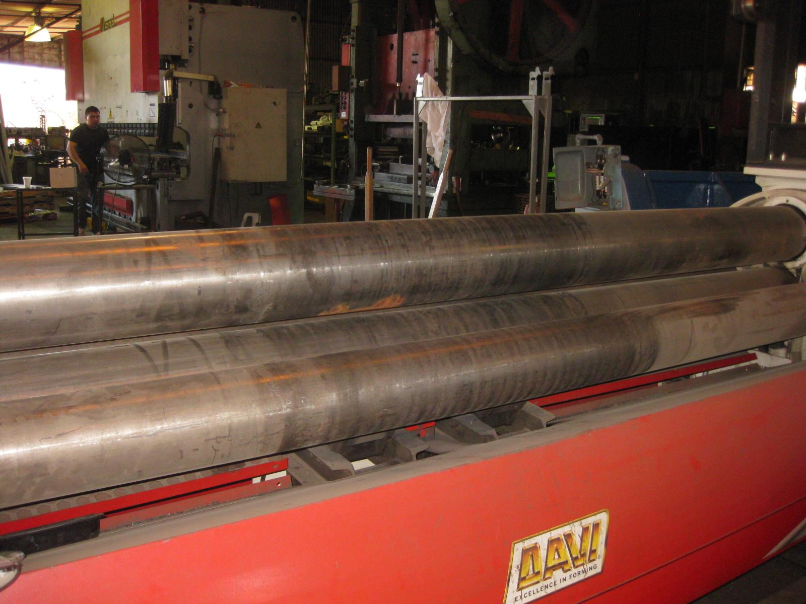 "10' x 5/16"" Davi 4 Roll Double Initial Pinch Plate Roll"
