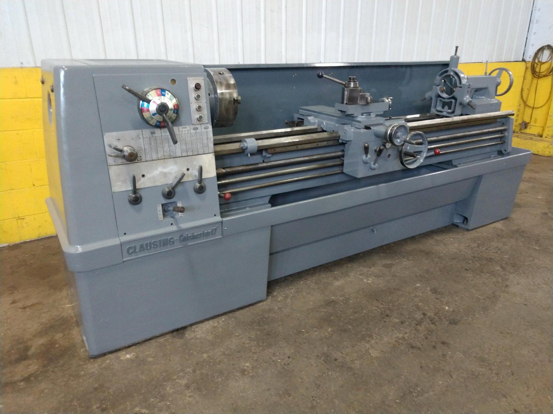 """17"""" X 80"""" CLAUSING & COLCHESTER GAP BED ENGINE LATHE: STOCK #12420"""