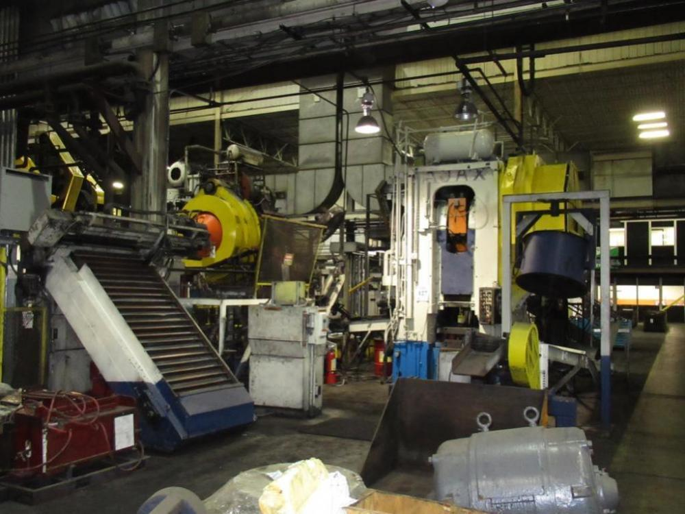 1300 Ton Ajax Forging Press Cell W/ Ajax Tocco Induction Heating System