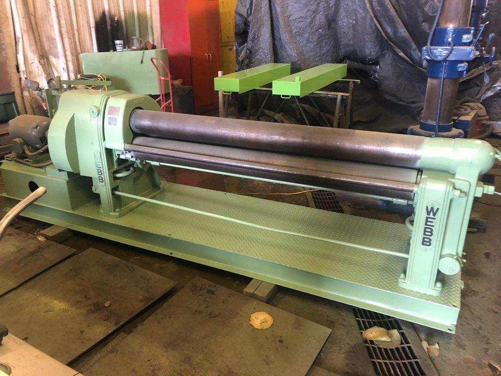 1 - PREOWNED WEBB 3 ROLL 1/4 in  x 6 ft POWERED PLATE BENDING ROLL, MODEL #: R3L, S/N: 451