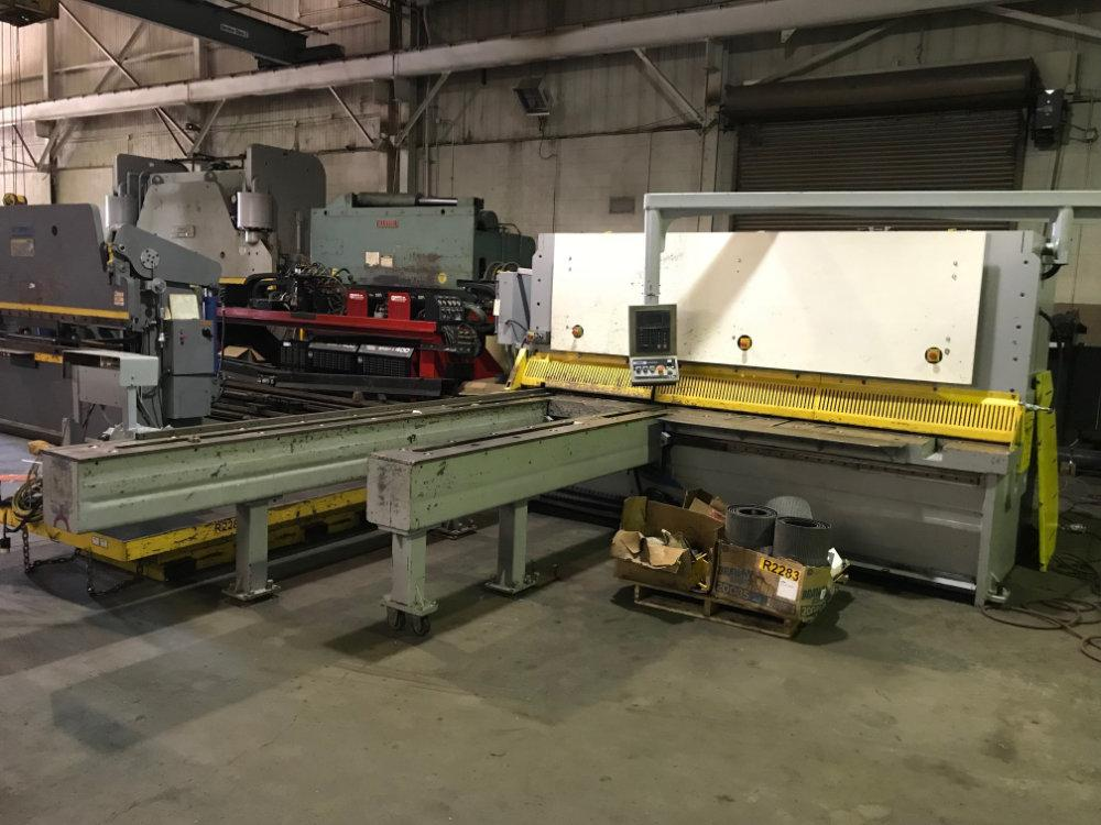 "USED ERMAK 3/8"" X 10' HYDRAULIC SHEAR, Model CNC HVR 3100 10, 3/8"" x 10', Stock No. 10419"