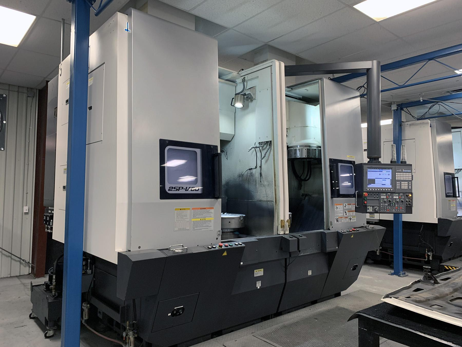 USED, OKUMA 2SP-V60 CNC TWIN SPINDLE VERTICAL TURNING CENTER