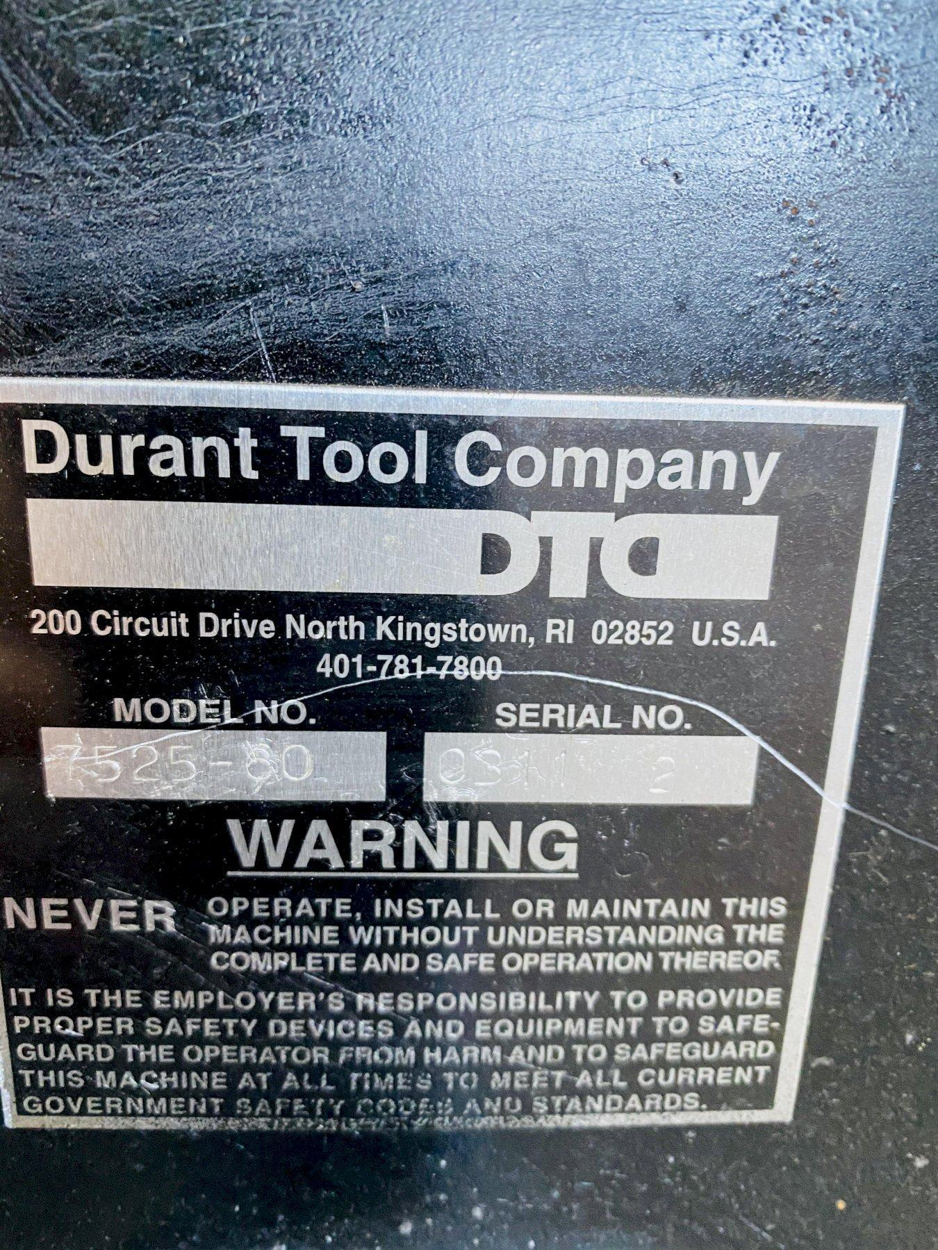 "7,500 LB X 60"" DURANT PALLET TYPE HORIZONTAL COIL REEL. STOCK # 0101620"