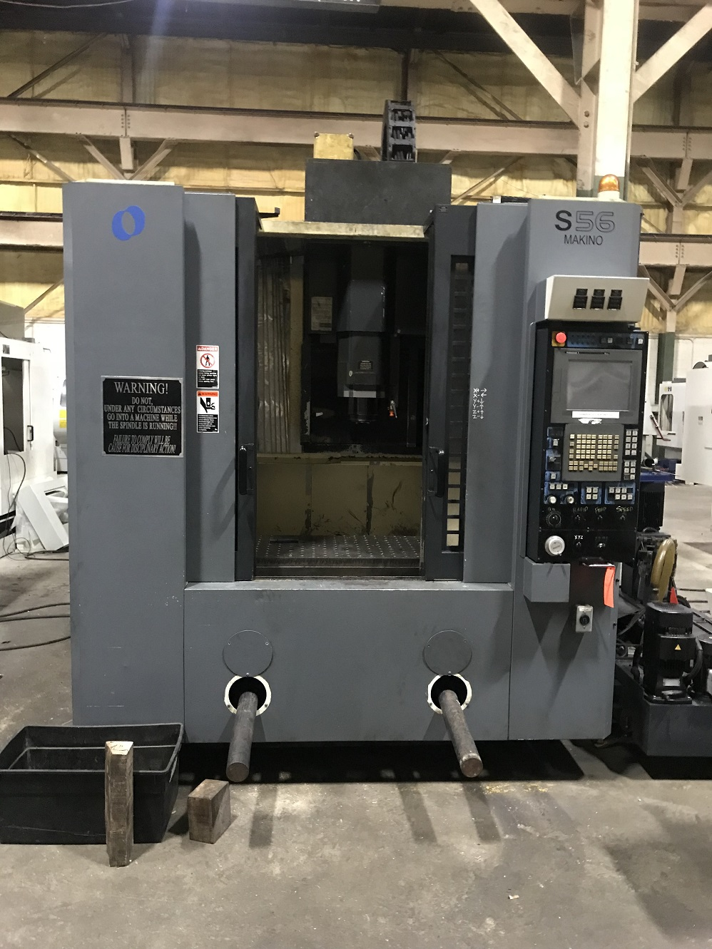 "Makino S56 CNC Vertical Machining Center, Pro 5, 35""/20""/20"" Travels, 13K,  40 Taper, CTS, 20 ATC, SGI, Data Server, Rigid Tap, 2006"