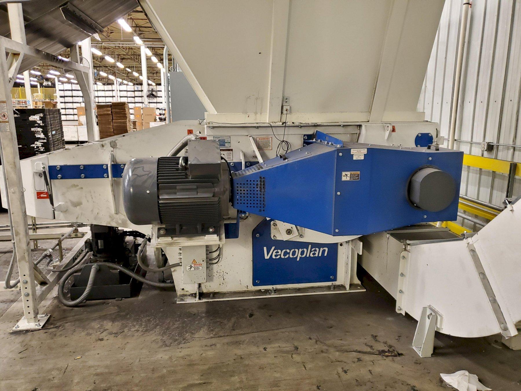 "52"" Used Shredding/Grinding Line with Vecoplan VAZ1300-L-XL Shredder & 150HP Rotogran Granulator, Yr. 2018"