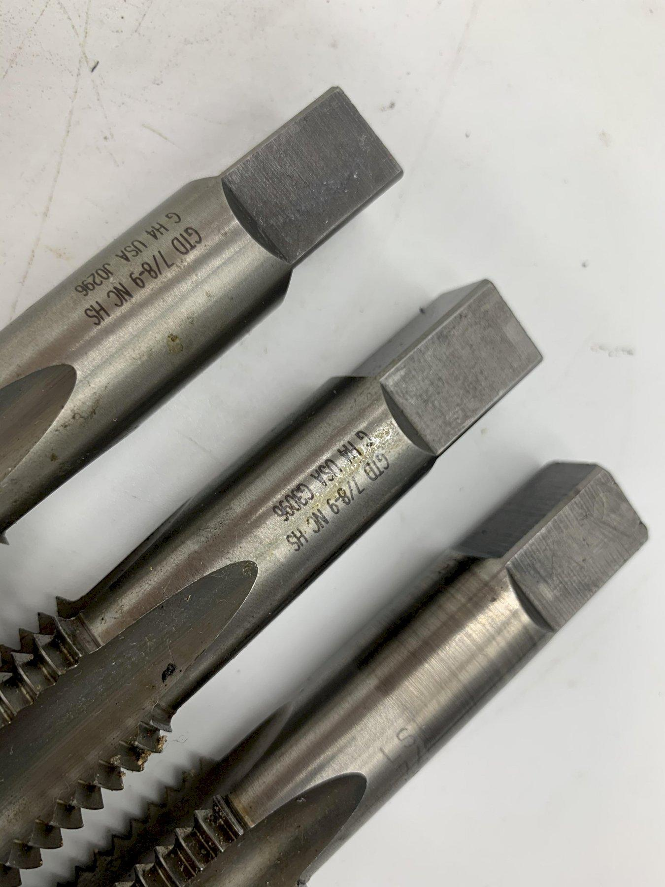 """7/8-9"""" NC-HS GTD 4 FLUTE TAP [QTY 3]  USA MADE STOCK #15530"""