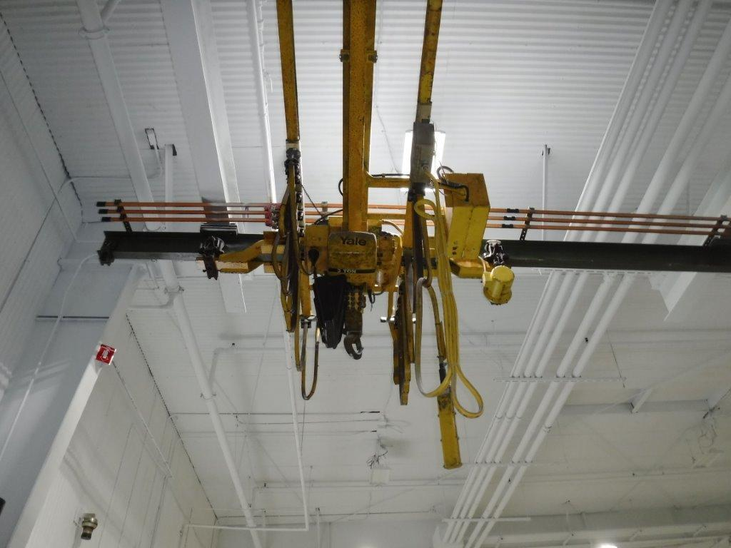 3 Ton x 23' Span Yale Under Running Single Girder Overhead Bridge Crane