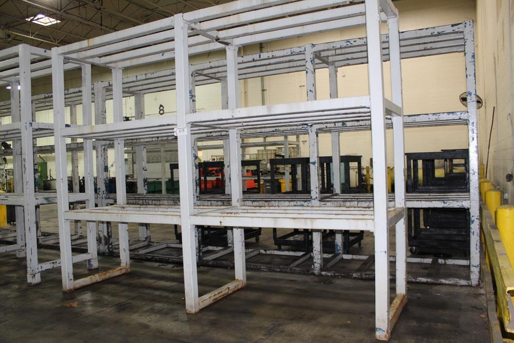 "44"" x 156"" 4 Tier Steel Die Storage Rack"