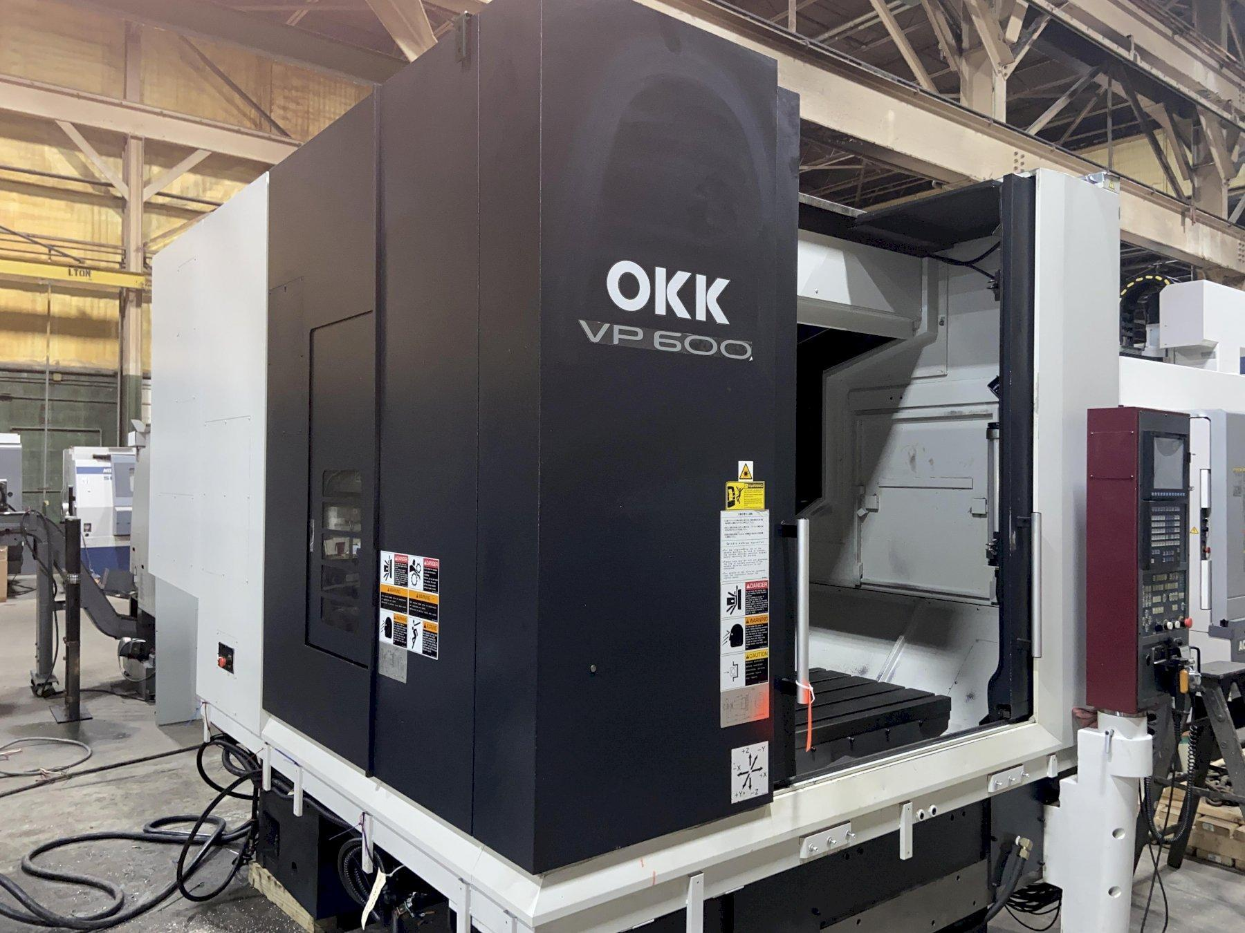 OKK VP600 Bridge-Style CNC Vertical Machining Center, Neomatic 730, 20K Spindle, CTS, 44