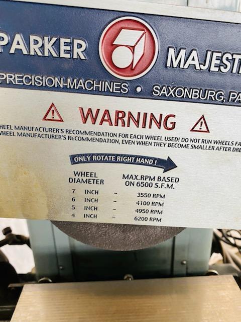 "6"" X 12"" PARKER-MAJESTIC 2Z SURFACE GRINDER. STOCK # 1160220"