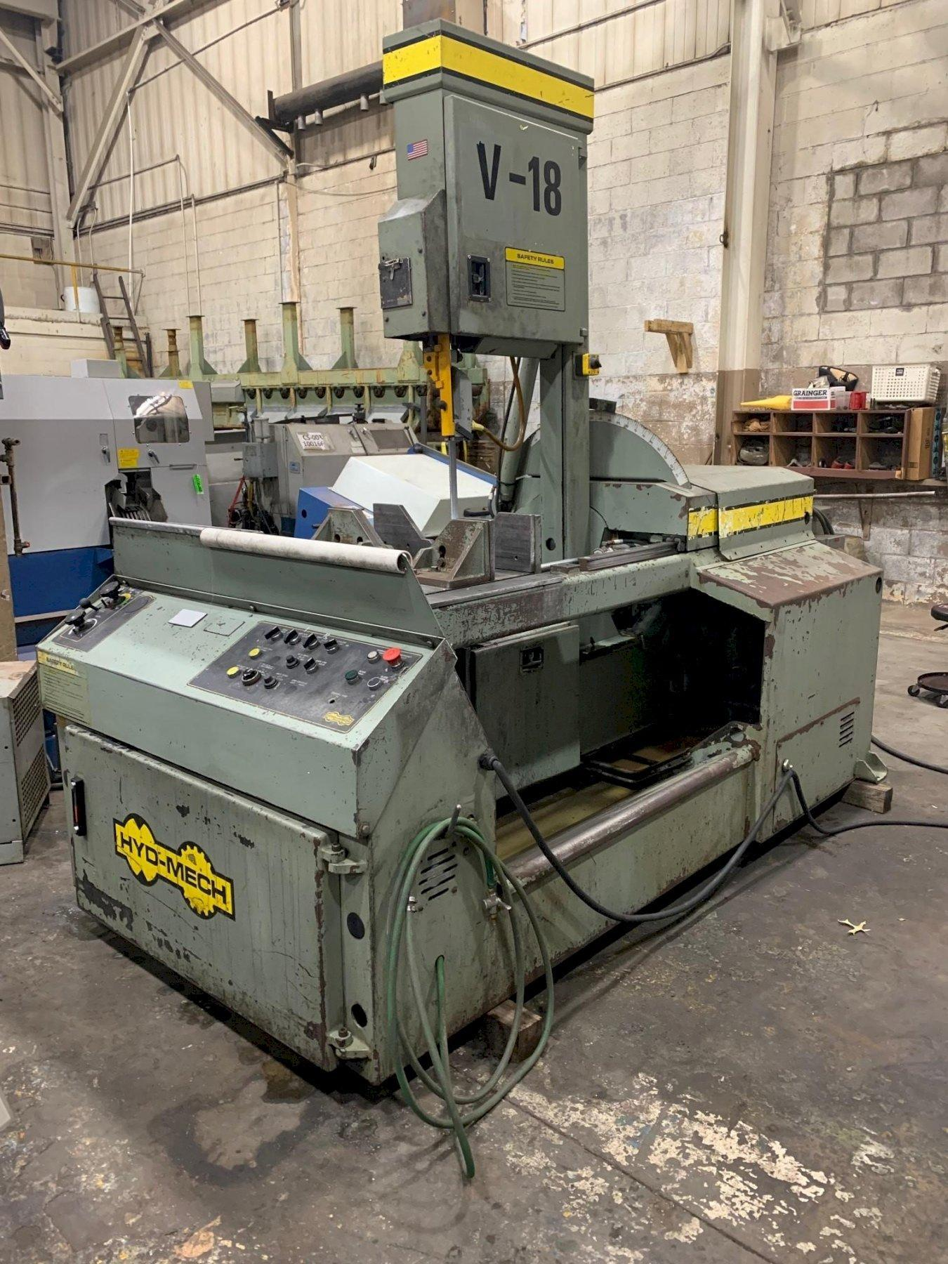 """USED HYD-MECH MODEL V-18 VERTICAL BANDSAW 18"""" X 20"""", Stock# 10859, Year: 1997"""