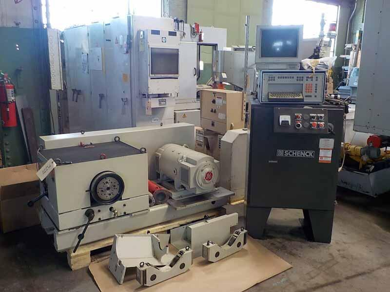 25,000 lb. Schenck H6V Two Plane Hard Bearing Horziontal Balacning Machine (End Drive & Control only)