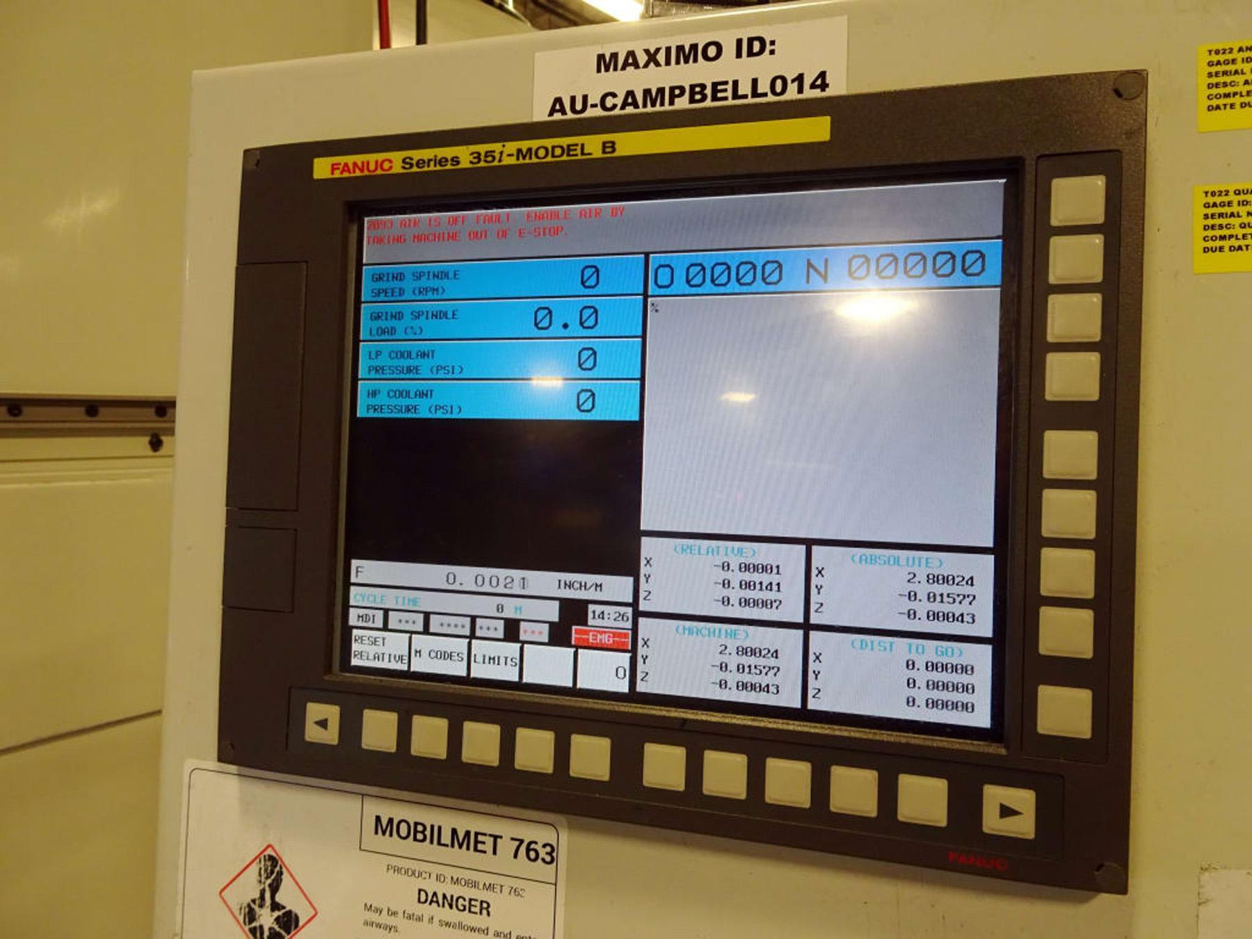 USED, CAMPBELL MODEL 800A600X600 CNC GRINDING MACHINE