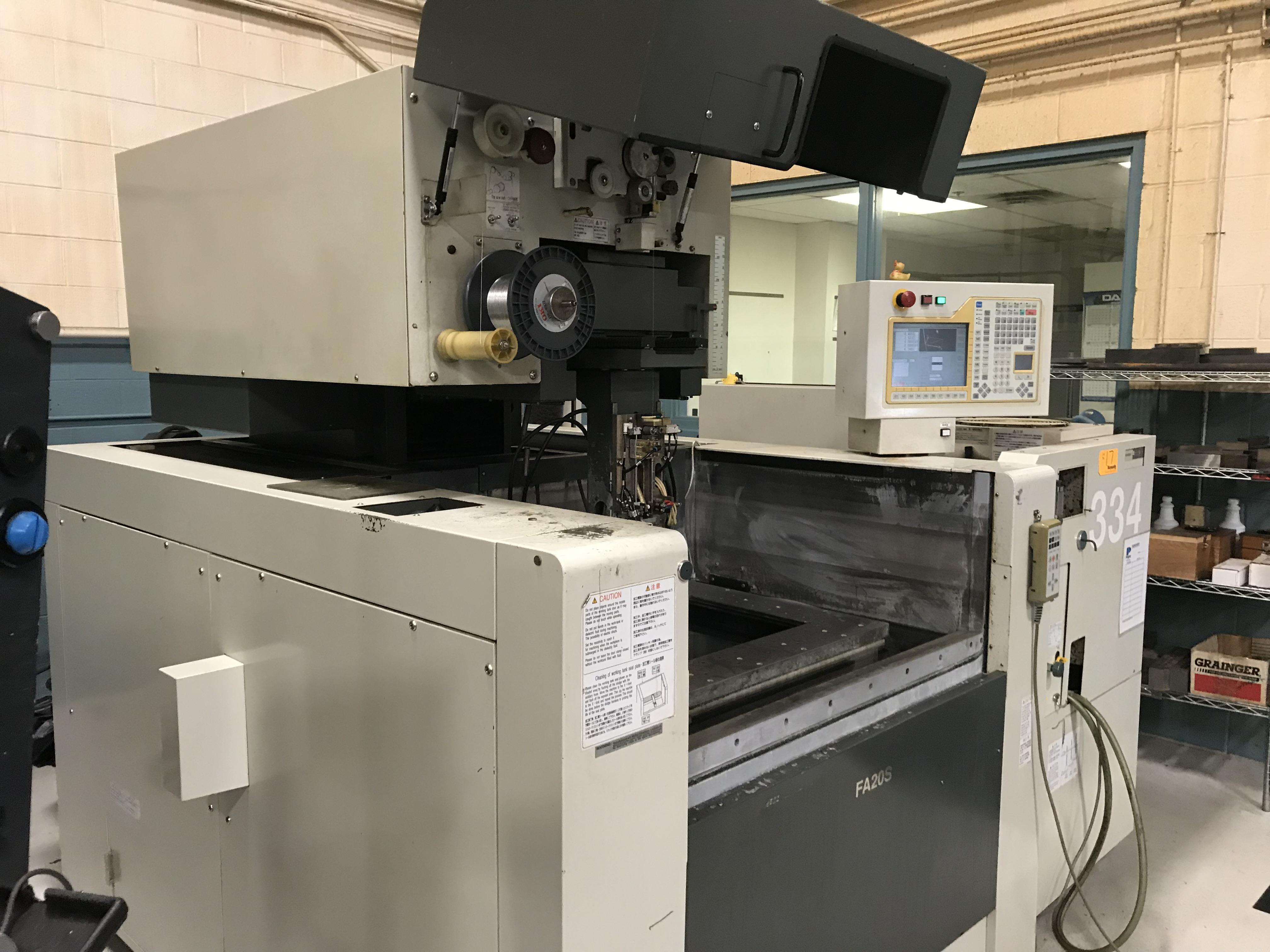 "Mitsubishi FA20S CNC Wire EDM, Mits Control, 19.7""/13.8""/11.8"" Travels, Submerged, Auto Threading, 30.7"" x 24.8"" Table, 3300 Lb Capacity, 2007"