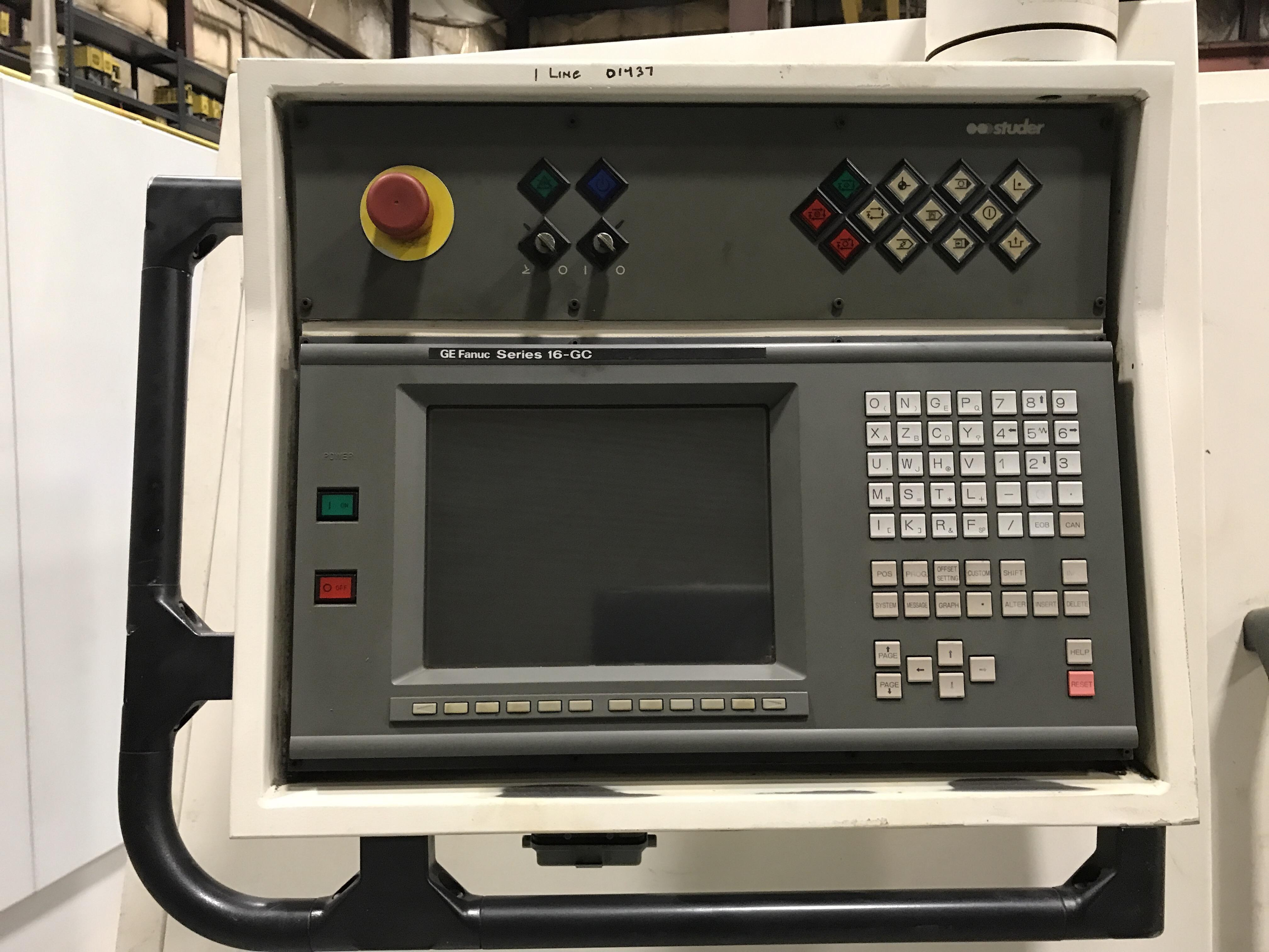 "Studer S-40 CNC Cylindrical Grinder, Fanuc 16GC, 20"" Wheel, 14"" Swing, 39"" Centers, Gauging, Shoulder, B-Axis, Scales, Dresser, (2) OD/(1) ID Spindle, 1997"