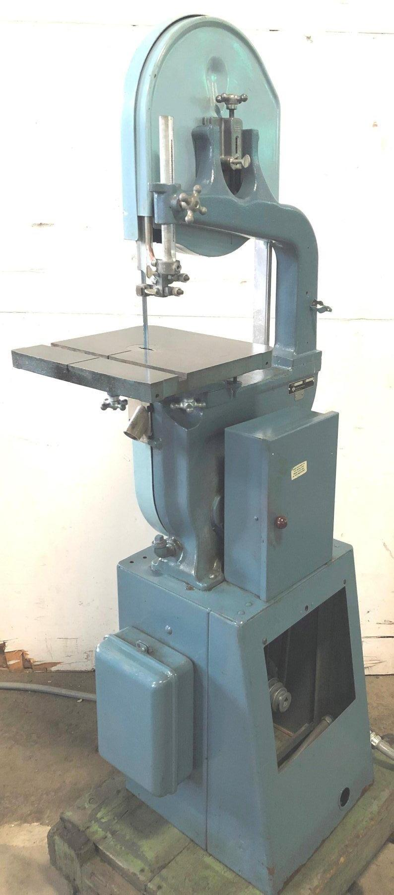 """14"""" Rockwell Vertical Band Saw No. 28-303, 6"""" Under Guide, 40-3000 FPM, 14"""" x 14"""" Table, Nice"""