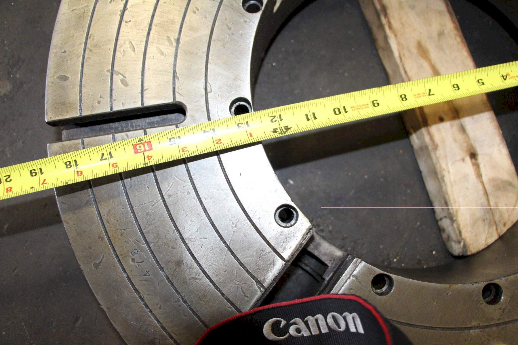 25-1/2' AXELSON 4 JAW LATHE CHUCK:  LOT #68771, OFF OF LOT #64479
