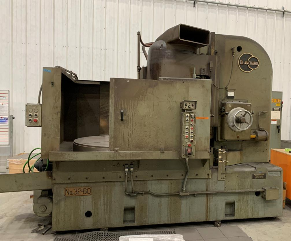 "Blanchard #32D-60, 60"" Vertical Spindle Rotary Surface Grinder, Re-Man 09'"